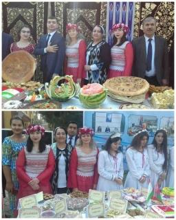 Выставка блюд  Белорусской и Таджикской кухни